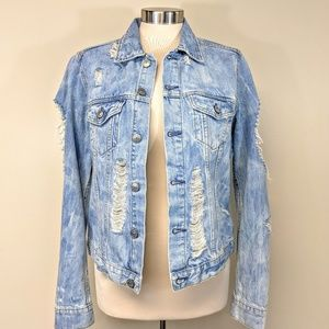 Custom Distressed Denim Jacket